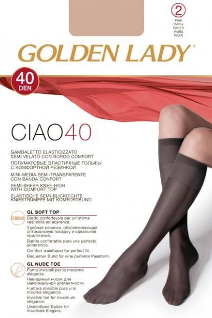 Эластичные гольфы (2 пары) GOLDEN LADY CIAO 40 den gambaletto - фото 1