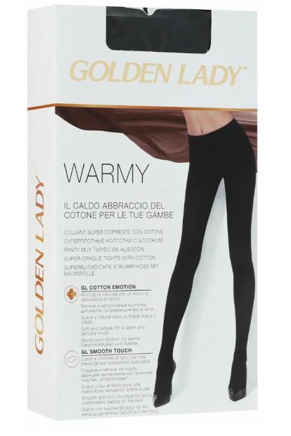 Теплые хлопковые колготки Golden Lady WARMY 300 - фото 1