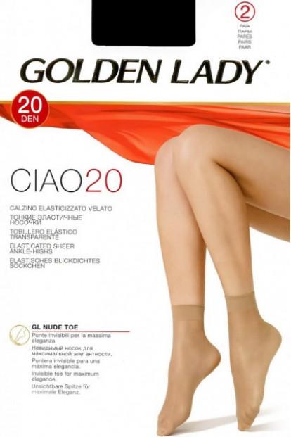 Женские летние капроновые носки Golden Lady CIAO 20 Calzino (2 пары) - фото 1