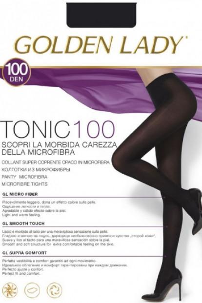 Теплые матовые колготки из микрофибры Golden Lady TONIC 100 - фото 1
