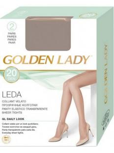 Классические матовые колготки Golden Lady LEDA 20
