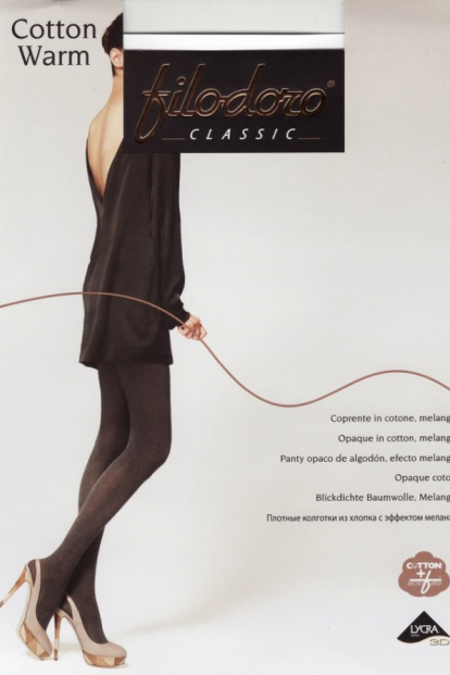 Теплые хлопковые колготки Filodoro Classic COTTON WARM 200 - фото 1