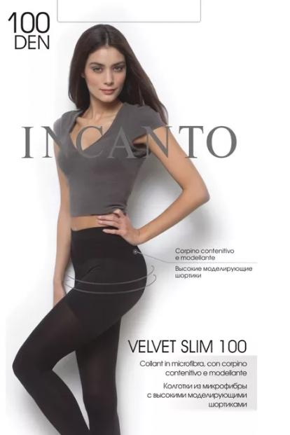 Теплые матовые утягивающие колготки Incanto VELVET SLIM 100 - фото 1