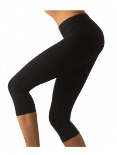 Женские спортивные лосины капри для фитнеса черные