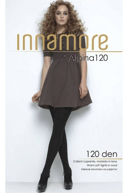 Теплые шерстяные колготки из акрила Innamore ALPINA 120