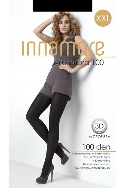 Теплые матовые колготки большого размера Innamore MICROFIBRA 100 XXL - фото 1