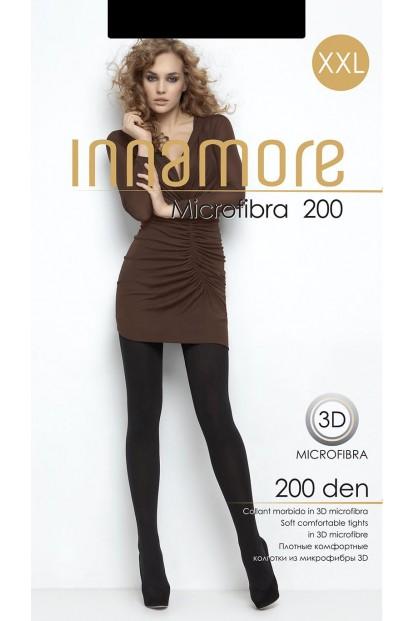 Теплые матовые колготки большого размера Innamore MICROFIBRA 200 XXL - фото 1