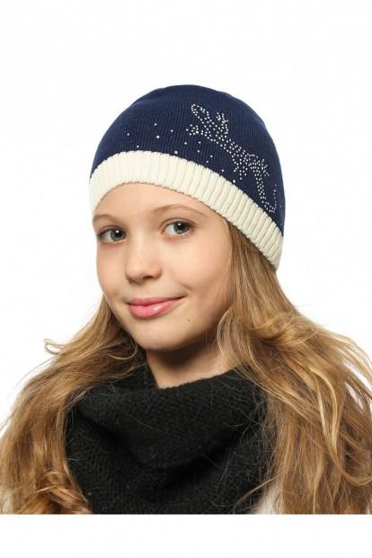 Детская шапка со стразами для девочек LARMINI LR-CAP-156340 - фото 1