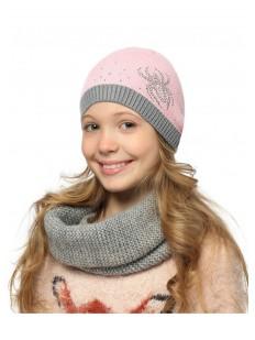 Детская шапка для девочек весенняя со стразами