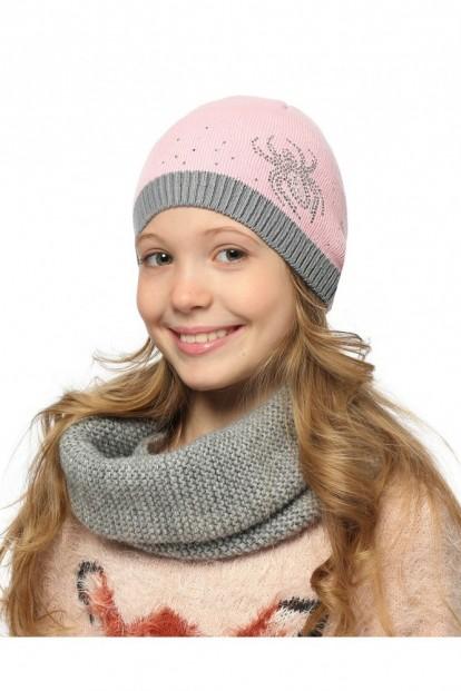 Детская шапка со стразами для девочек LARMINI LR-CAP-156341 - фото 1