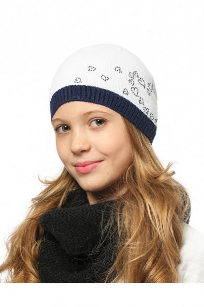 Детская шапка со стразами для девочек LARMINI LR-CAP-156170 - фото 1