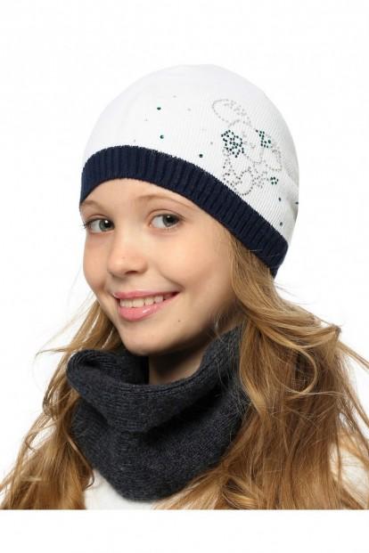 Детская шапка со стразами для девочек LARMINI LR-CAP-156410 - фото 1