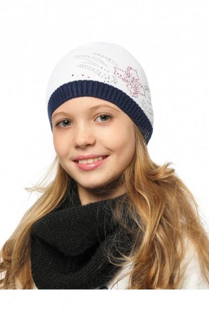Детская шапка со стразами для девочек LARMINI LR-CAP-156491 - фото 1