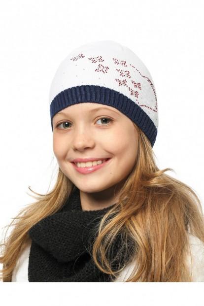 Детская шапка со стразами для девочек LARMINI LR-CAP-156171 - фото 1