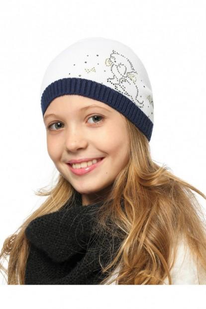 Детская шапка со стразами для девочек LARMINI LR-CAP-156411 - фото 1