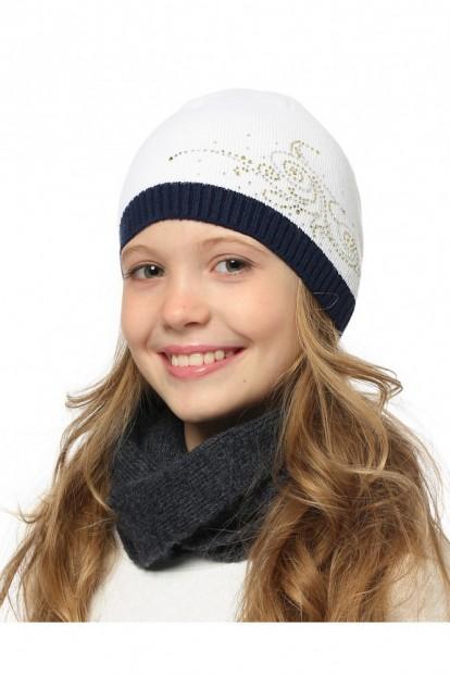 Детская шапка со стразами для девочек LARMINI LR-CAP-156492 - фото 1