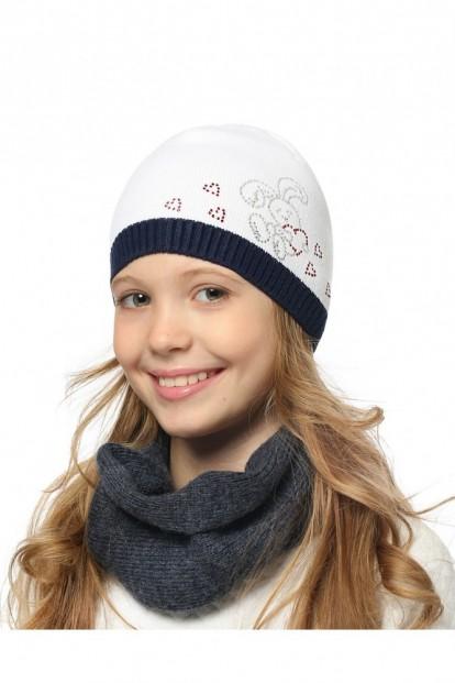 Детская шапка со стразами для девочек LARMINI LR-CAP-156412 - фото 1