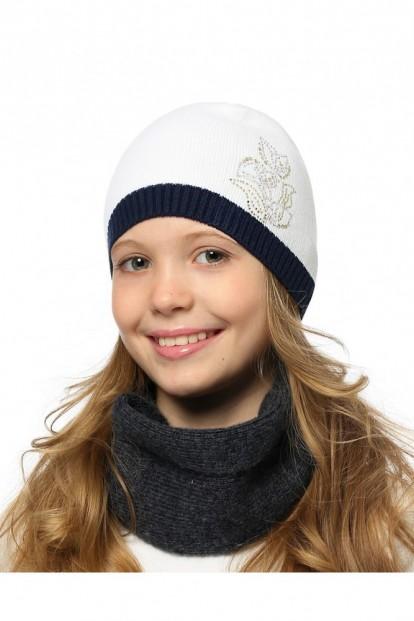Детская шапка со стразами для девочек LARMINI LR-CAP-156556 - фото 1