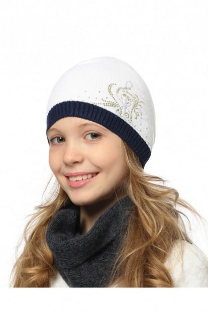Детская шапка со стразами для девочек LARMINI LR-CAP-156339 - фото 1