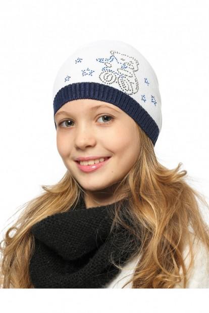 Детская шапка со стразами для девочек LARMINI LR-CAP-156413 - фото 1