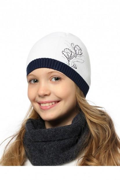 Детская шапка со стразами для девочек LARMINI LR-CAP-156557 - фото 1