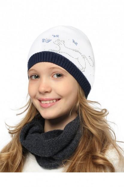 Детская шапка со стразами для девочек LARMINI LR-CAP-156146 - фото 1