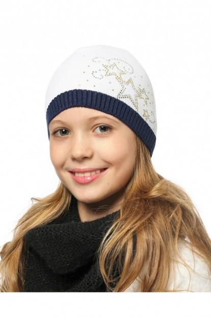 Детская шапка со стразами для девочек LARMINI LR-CAP-156486 - фото 1