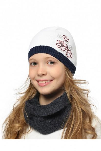 Детская шапка со стразами для девочек LARMINI LR-CAP-156558 - фото 1