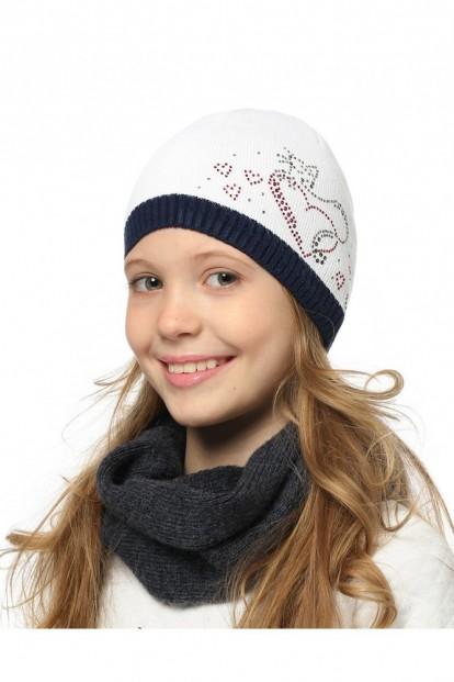 Детская шапка со стразами для девочек LARMINI LR-CAP-156161 - фото 1