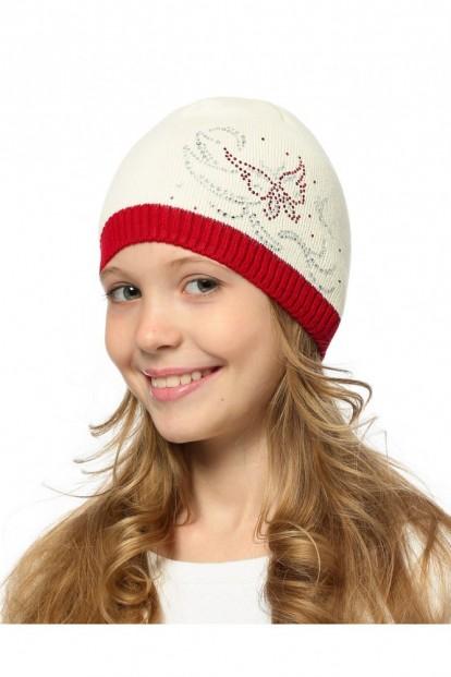 Детская шапка со стразами для девочек LARMINI LR-CAP-156487 - фото 1
