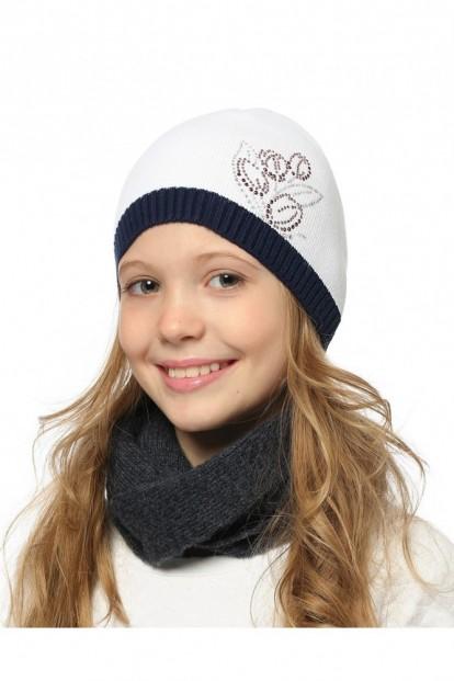 Детская шапка со стразами для девочек LARMINI LR-CAP-156559 - фото 1