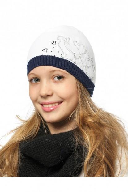 Детская шапка со стразами для девочек LARMINI LR-CAP-156164 - фото 1