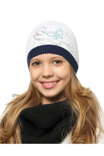 Детская шапка со стразами для девочек LARMINI LR-CAP-156487-02 - фото 1