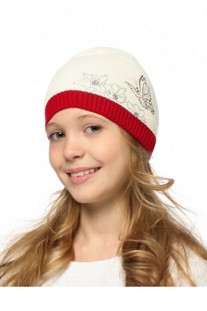 Детская шапка со стразами для девочек LARMINI LR-CAP-156343 - фото 1