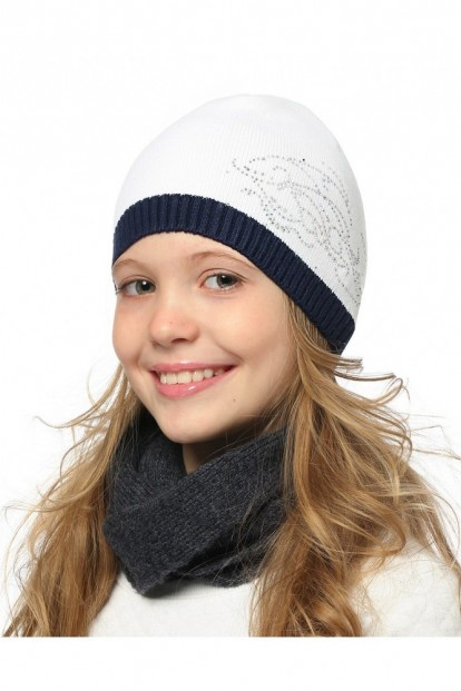 Детская шапка со стразами для девочек LARMINI LR-CAP-156488 - фото 1