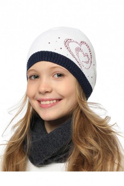 Детская шапка со стразами для девочек LARMINI LR-CAP-156168 - фото 1