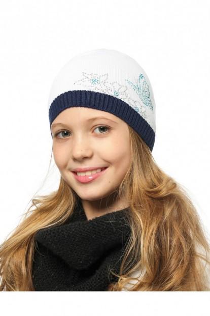 Детская шапка со стразами для девочек LARMINI LR-CAP-156343-02 - фото 1
