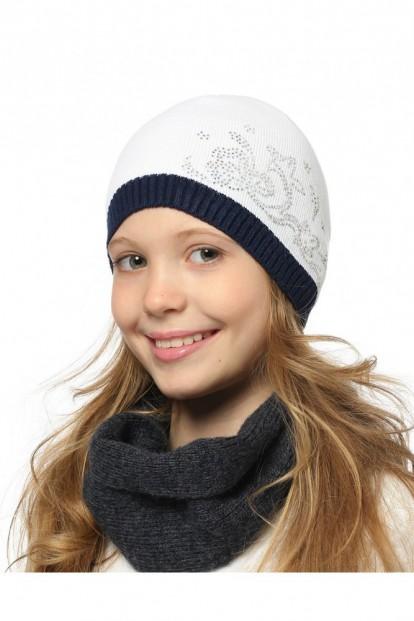 Детская шапка со стразами для девочек LARMINI LR-CAP-156489 - фото 1