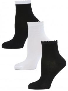 Детские носки LARMINI LR-S-K-3-BW-W-B