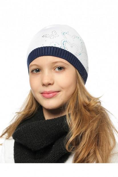 Детская шапка со стразами для девочек LARMINI LR-CAP-156169 - фото 1