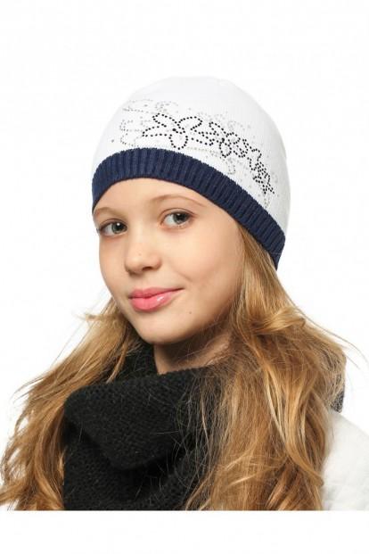 Детская шапка со стразами для девочек LARMINI LR-CAP-156490 - фото 1