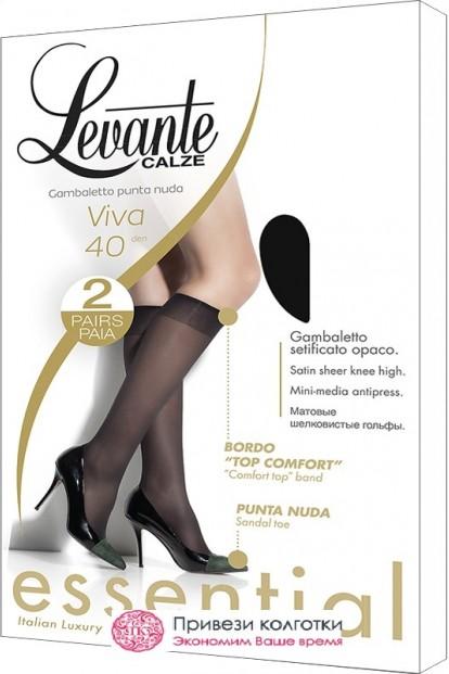 Прозрачные гольфы LEVANTE VIVA 40 gambaletto (2 п.) - фото 1