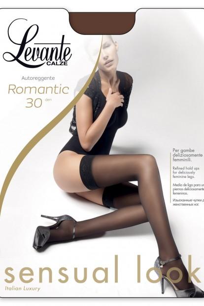 Классические итальянские кружевные чулки Levante ROMANTIC 30 - фото 1