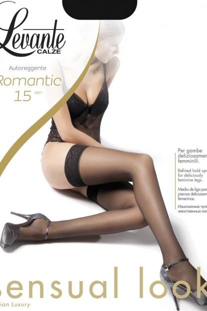 Итальянские кружевные чулки Levante ROMANTIC 15 - фото 1