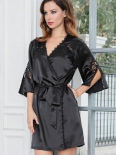 Женский атласный короткий халат кимоно Mia-Mella Mirabella