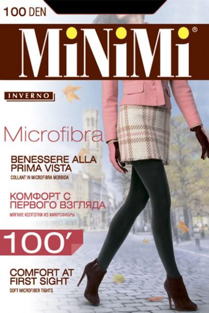 Плотные матовые колготки Minimi MICROFIBRA 100 - фото 1