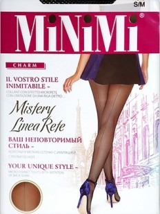 Колготки в сетку со швом Minimi MISTERY LINEA RETE