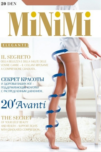 Поддерживающие колготки с шортиками Minimi AVANTI 20