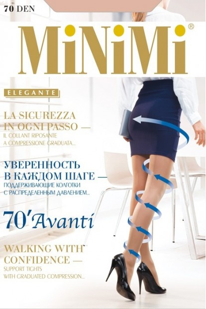 Поддерживающие колготки с шортиками Minimi AVANTI 70