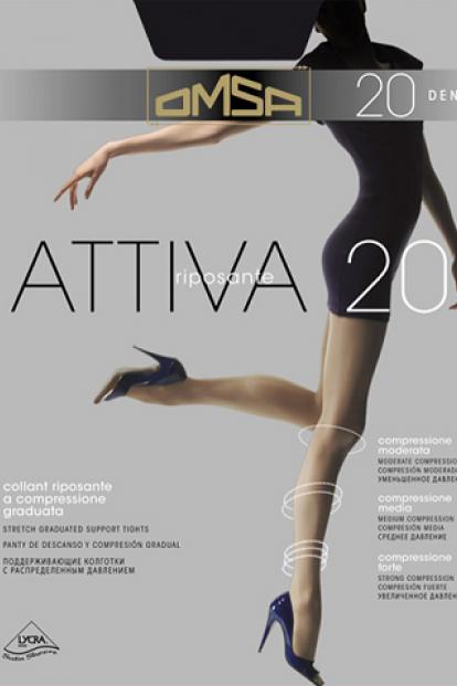 Корретирующие колготки Omsa Attiva 20